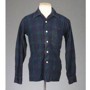 Vtg 50s/60s Lochlana The Black Watch Plaid Shirt